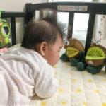 生後1ヶ月[7週目]:心配性なので病院へ。首すわりは始まっていた!